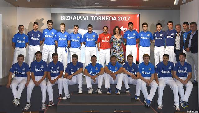 Participantes en el Torneo Bizkaia de pelota