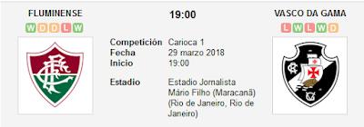 Fluminense vs Vasco en VIVO