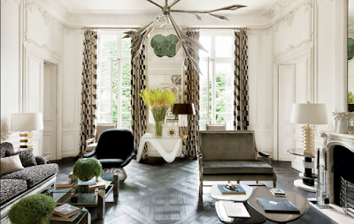 Lauren Santo Domingo paris apartment designed by Francois Catroux living room
