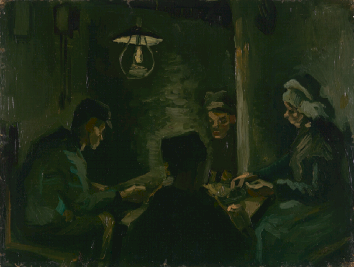 analysis of the potato eaters by The potato eaters (dutch: de aardappeleters) is an oil painting by dutch artist vincent van gogh painted in april 1885 in nuenen, netherlands it is in the van gogh museum in amsterdam it is in the van gogh museum in amsterdam.