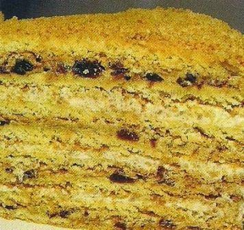 Состав продуктов и способ приготовления торта