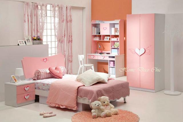 chambre jeune fille d coration chambre de fille. Black Bedroom Furniture Sets. Home Design Ideas