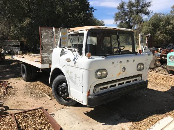 1964 Ford Cabover Flat Bed Truck