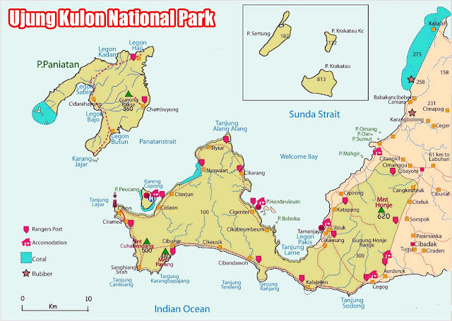 Gambar peta Taman Nasional Ujung Kulon