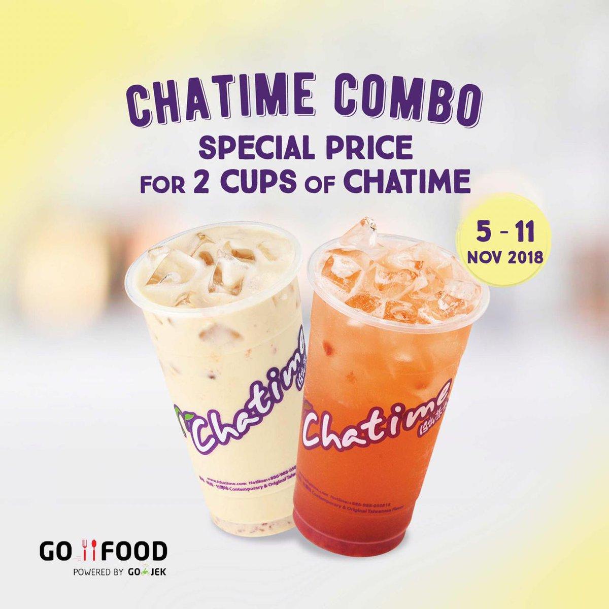 Chatime - Promo Chatime Combo Spesial Ulang Tahun GoFood (s.d 11 Nov 2018)