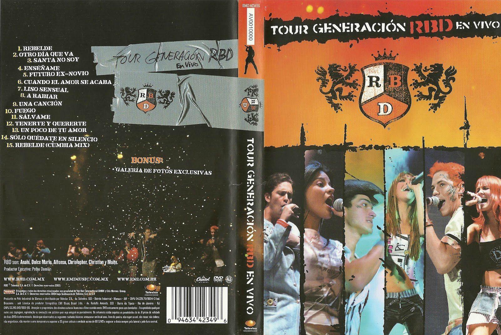 """Há 16 anos, RBD lançava seu primeiro e aclamado CD/DVD """"Tour Generación en Vivo"""""""