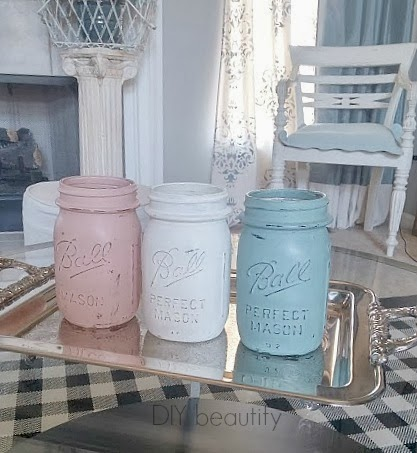 Transform mason jars with chalk paint! diy beautify
