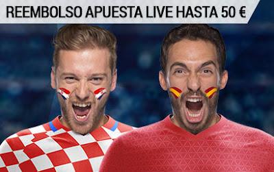 bwin reembolso 50 euros apuesta live Eurocopa 2016 Croacia vs España 21 junio