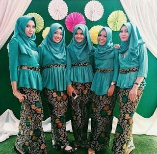 setelan rok batik panjang simpel