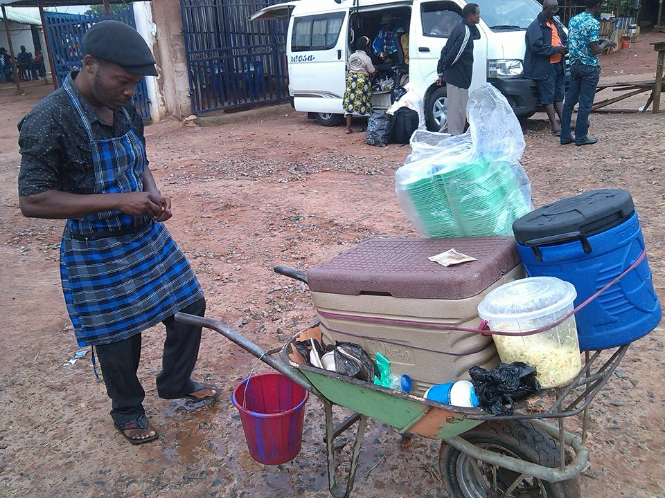 unemployed graduate selling food ekpoma streets