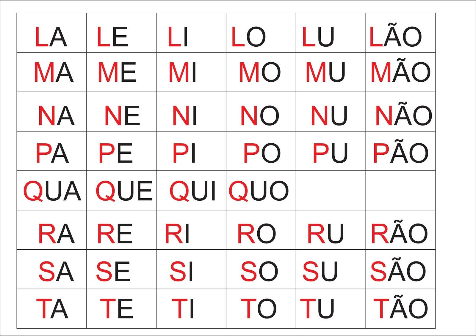 Cartelas Ilustradas Com Personagens Infantis Para Bingo Com Silabas