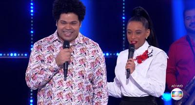 Robson Nunes conquistou 30,35 pontos ao soltar a voz com uma canção de Jorge Ben Jor — Foto: Globo