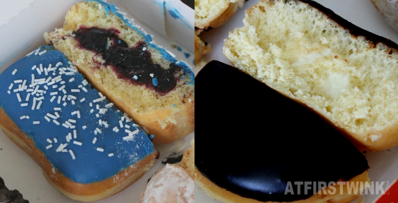 Dunkin' Donuts Netherlands Boston creme Blueberry square