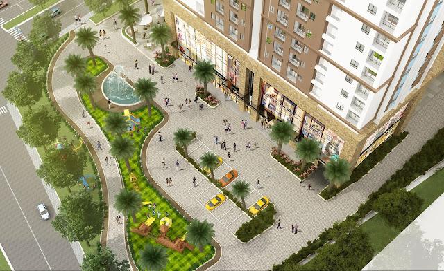 Tứ Hiệp Plaza sở hữu khuôn viên nội khu rộng
