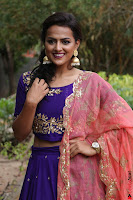 Actress Shraddha Srinath in Purple Chania Choli Cute Pics ~  Exclusive 52.jpg