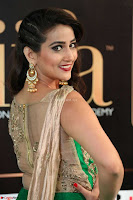 Manjusha in Beautiful Sleeveless Green Anarkali dress at IIFA Utsavam Awards 43.JPG