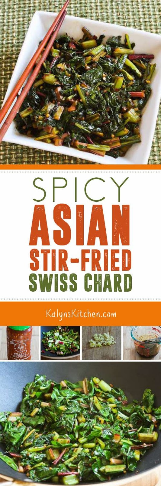 Spicy Asian Stir-Fried Swiss Chard found on KalynsKitchen.com.