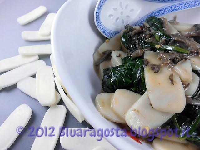 Gnocchi cinesi di riso con funghi maitake