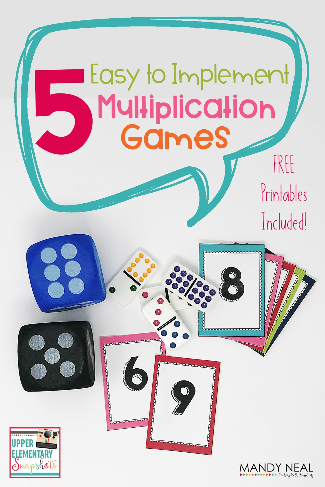 Upper Elementary Snapshots 5 Easy To Implement Multiplication Games