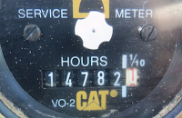 Photo of hours meter with high hours