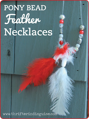 Feather Kids Necklace Tutorial