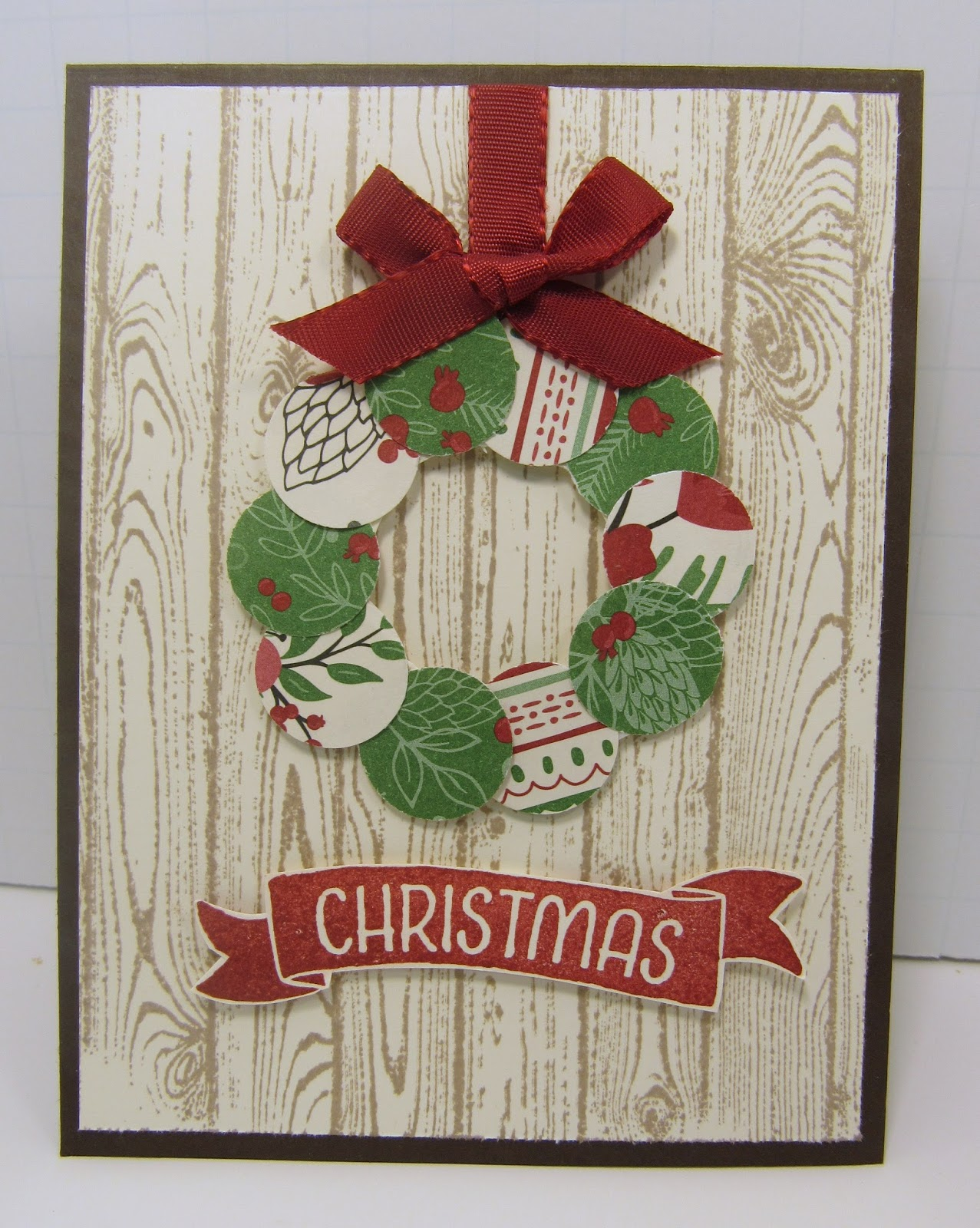 personally yours stampin with scraps christmas wreath