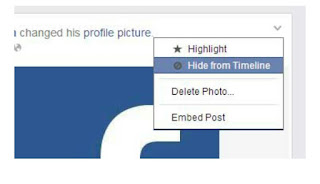 Update Facebook profile picture without notifying everyone