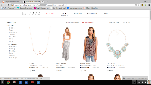 Le Tote... SIGNED UP!