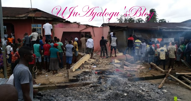 Drama as Calabar Residents Demolish Church, Beat Up Pastor...You Won't Believe Why