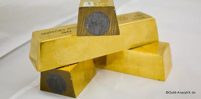 L'or des USA a disparu ou est fourré au tungstène.