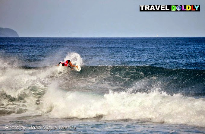 Surfing the Azores: Photo João Miguel Martins for Travel Boldly.