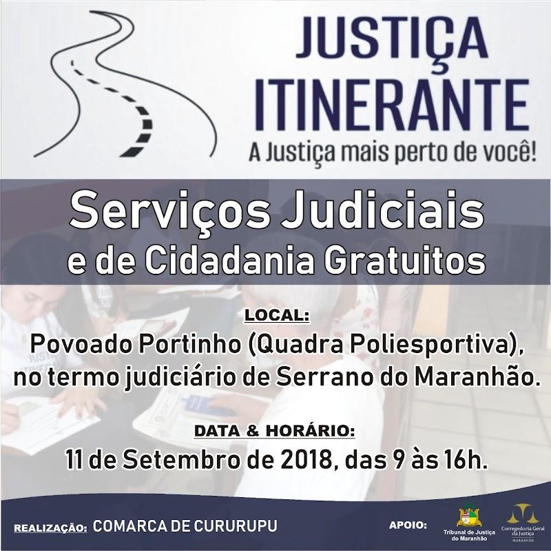 CIDADANIA: Povoado de Portinho em Serrano do Maranhão recebe o Projeto Justiça Itinerante nesta terça-feira 11