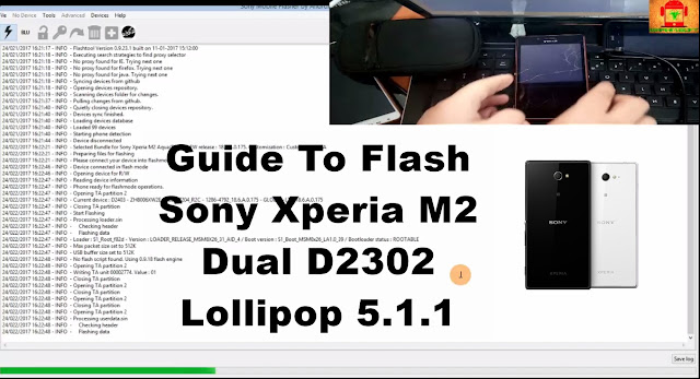 Sony Xperia M2 Dual D2302 Lollipop 5.1.1 Tested Firmware