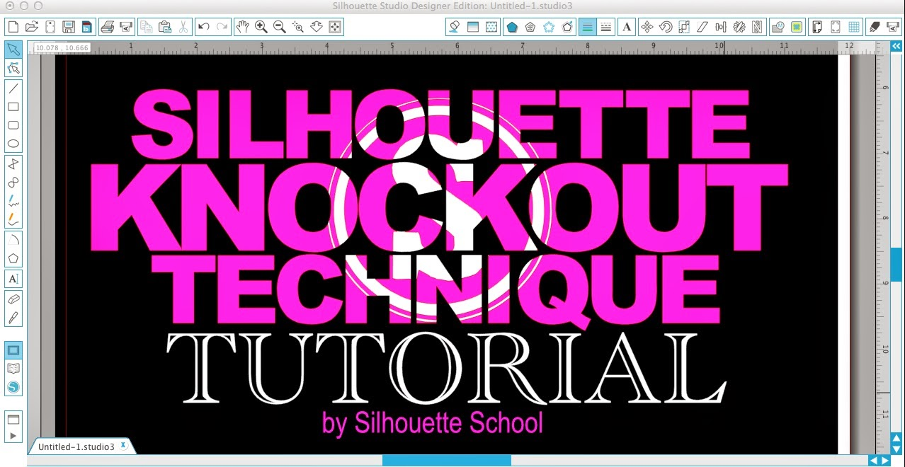 Silhouette Knockout Technique Tutorial Part 1 Designing