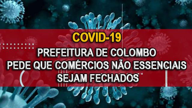 Coronavírus: Prefeitura de Colombo pede que comércios não essenciais sejam fechados
