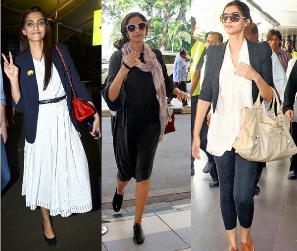 sonam kapoor airport fashion