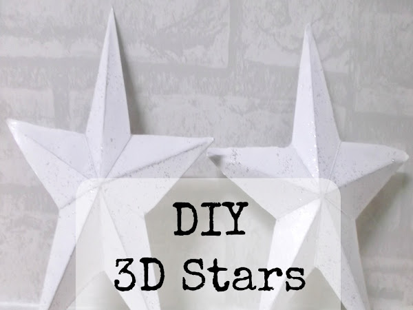 DIY 3D Cardboard Stars {Tutorial}