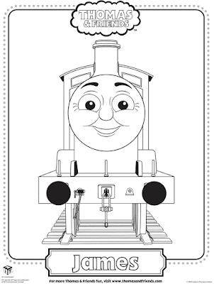 Gambar Mewarnai Thomas and Friends - 15