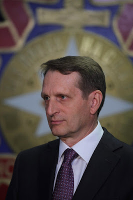 Director of the Foreign Intelligence Service Sergei Naryshkin.
