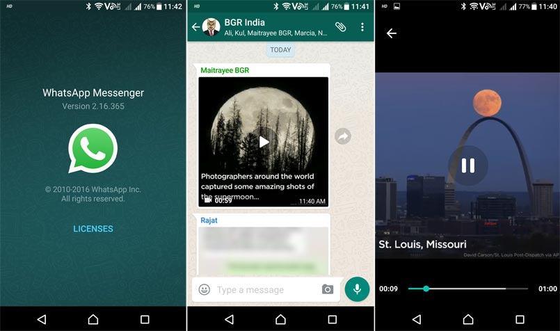 WhatsApp yaitu aplikasi pesan instan yang memungkinkan penggunanya saling berkirim file  Tak Perlu Download, Sekarang WhatsApp Bisa Putar Video Langsung
