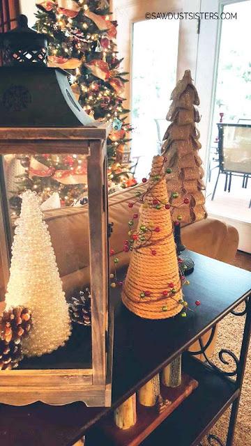 tabletop christmas trees DIY