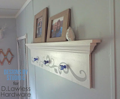 Spray Painted Glass Knobs used for Coat Rack - D. Lawless Hardware
