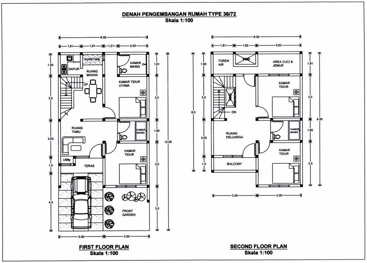 Envi C Desain Rumah Minimalis Type 36 72
