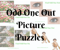 Tough Odd One Out Picture Puzzles for Teens and Adults with answers