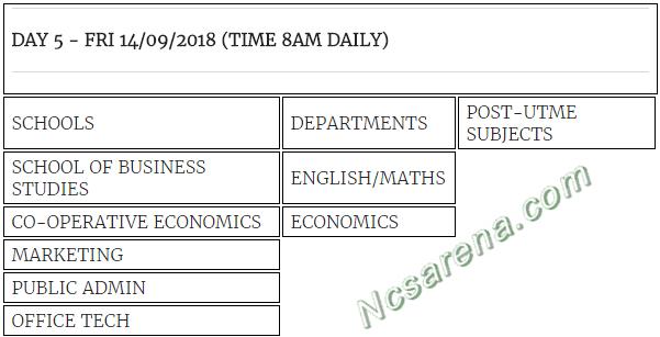 IMT-ENUGU 2018/19 POST-UTME TIMETABLE 4 of 4