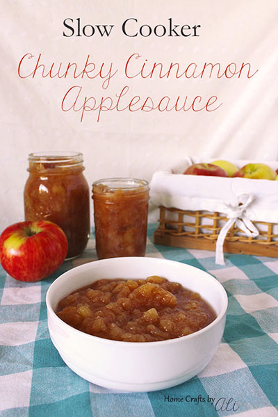 chunky cinnamon applesauce recipe made in the slow cooker