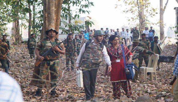 Rajkummar Rao Army Man Look in Newton Movie