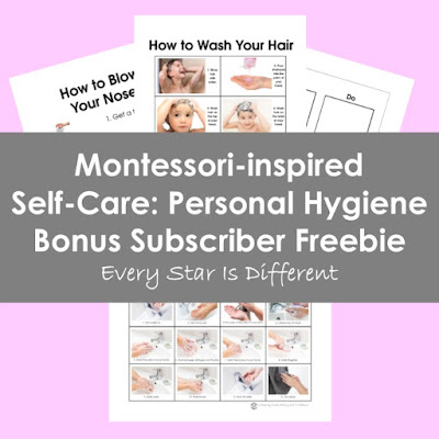 Montessori-inspired Self-Care: Personal Hygiene Bonus Subscriber Freebie