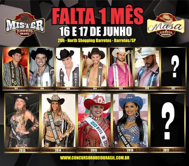 Mister Rodeio Brasil e Musa do Rodeio Nacional 2017 serão eleitos no North Shopping Barretos