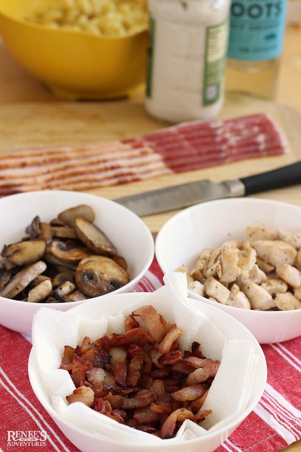 Chicken Bacon Pasta ingredients